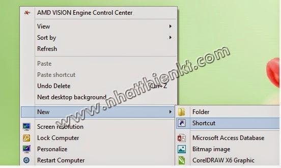 Windows 8 Hướng dẫn tạo phím nóng cực HOT cho phần mềm, ứng dụng trên máy tính