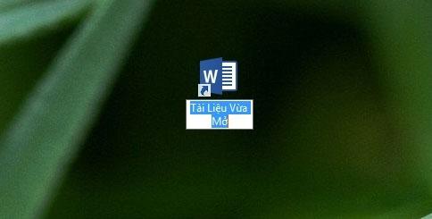 Tạo shortcut tài liệu Word đang xem dang dở trên Desktop