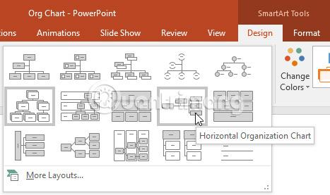 Thao tác với các đồ họa SmartArt trong PowerPoint 2016