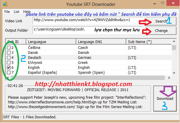 Hướng dẫn tải phụ đề (Sub/CC) trên Youtube bằng phần mềm 2