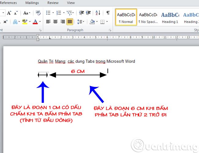 Tạo dòng dấu chấm (……………) nhanh trong Microsoft Word