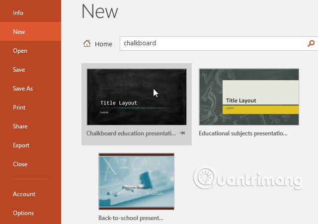 Tạo và mở bài thuyết trình trong PowerPoint 2016