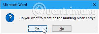 Cách tạo AutoText trong Word