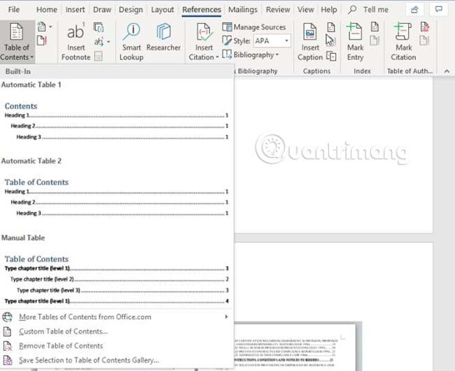 10 mẫu mục lục ấn tượng cho Microsoft Word