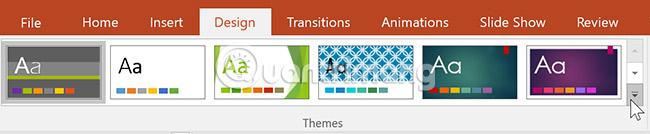 Cách thay đổi theme trong PowerPoint 2016