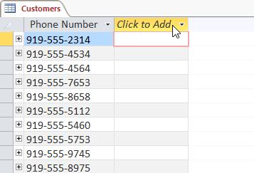 Chỉnh sửa bảng trong Access 2016