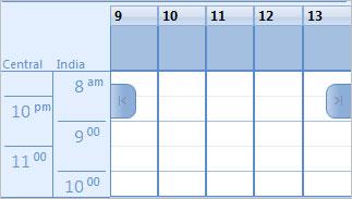 Bổ sung múi giờ trong Outlook Calendar