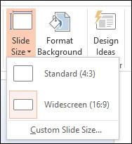 Hướng dẫn thay đổi kích cỡ các trang Slide trongPowerPoint