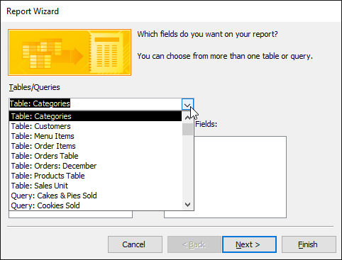 Tạo báo cáo trong Access 2016 và sử dụng các tùy chọn báo cáo nâng cao