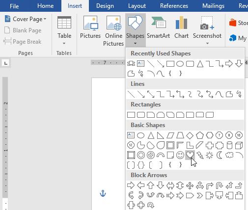 Hướng dẫn toàn tập Word 2016 (Phần 18): Cách thêm hình dạng Shape